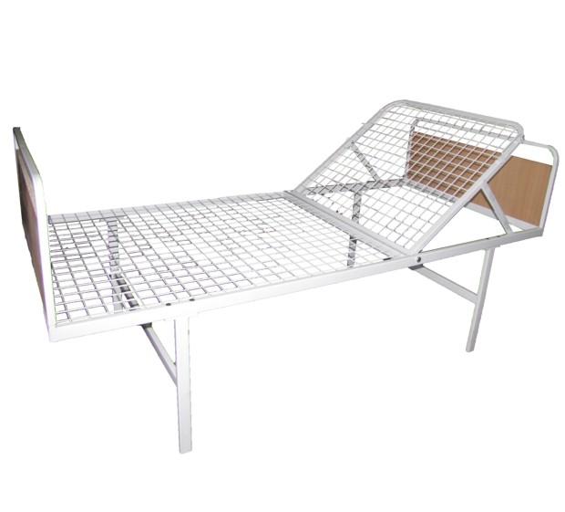 Fém betegágy / kórtermi ágy emelhető fejtámlával 200x90 cm