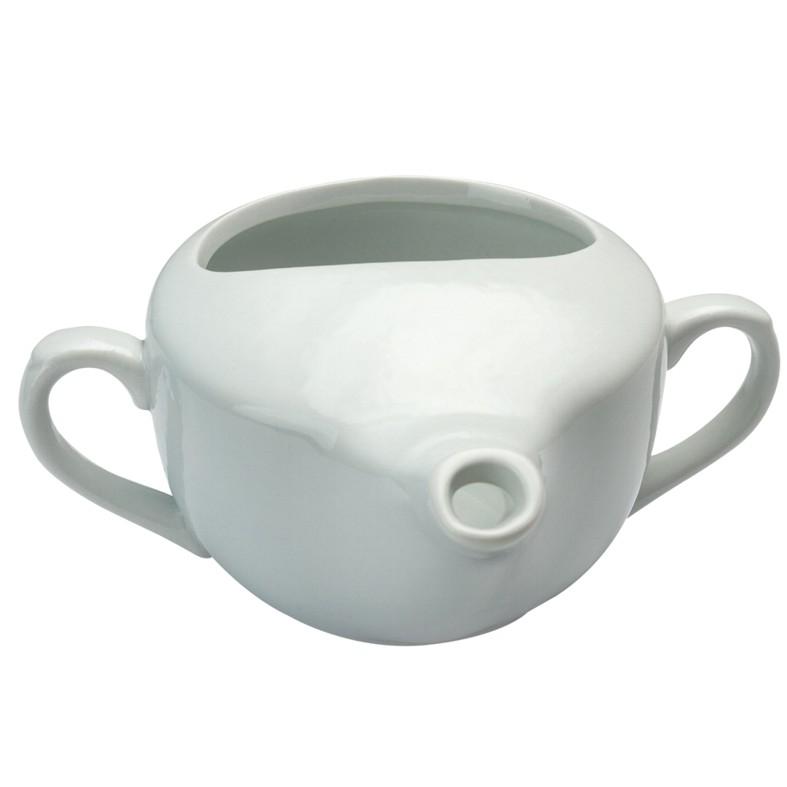 Kerámia betegitató pohár csőrös