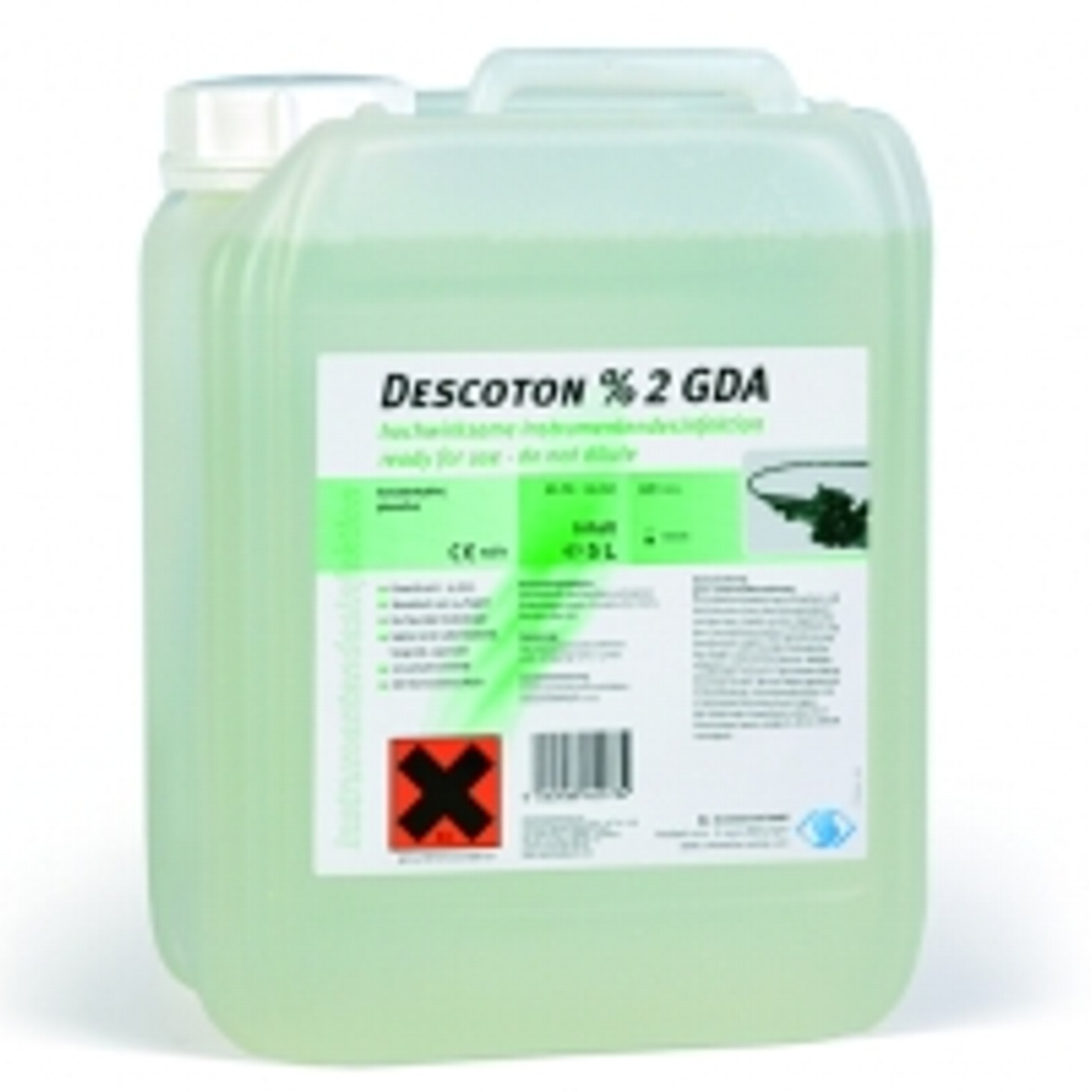 DESCOTON 2 % GDA, 5 L műszer- éa endoscop fertőtlenítő