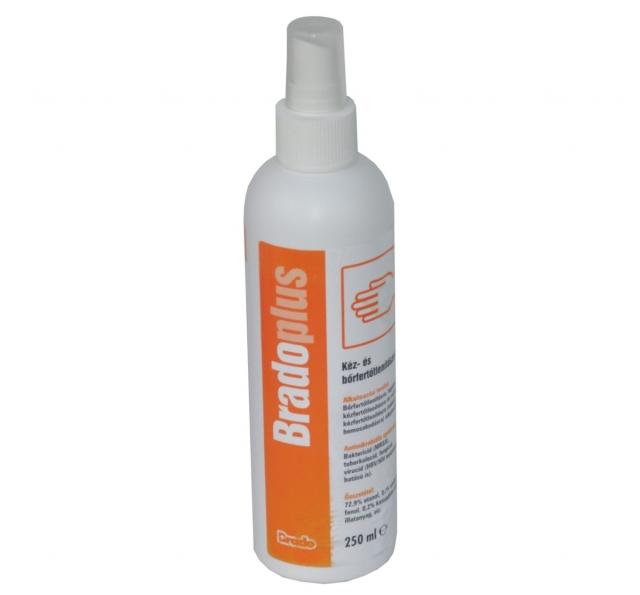 Bradoplus 250 ml kéz- és bőrfertőtlenítő spray