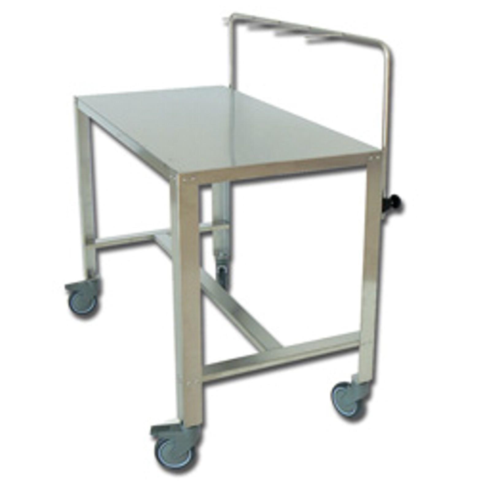 Rozsdamentes műszer asztal 1 polcos - 120 x 65 x h 95 cm.