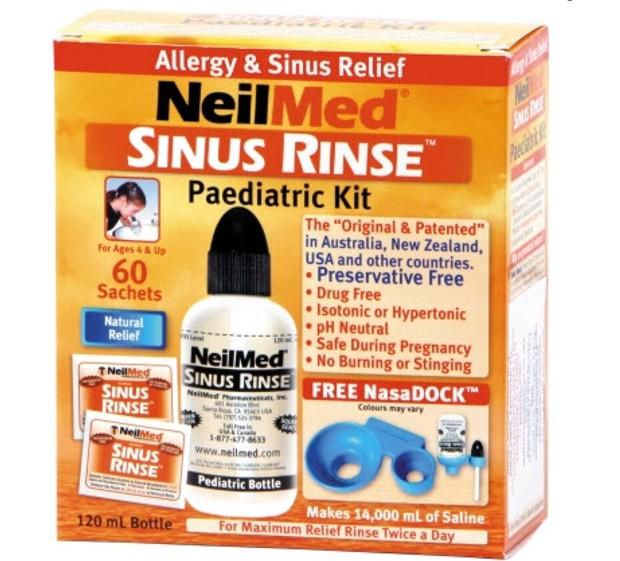 Orr és arcüreg öblítő gyerekeknek NeilMed 120ml/60 tasak