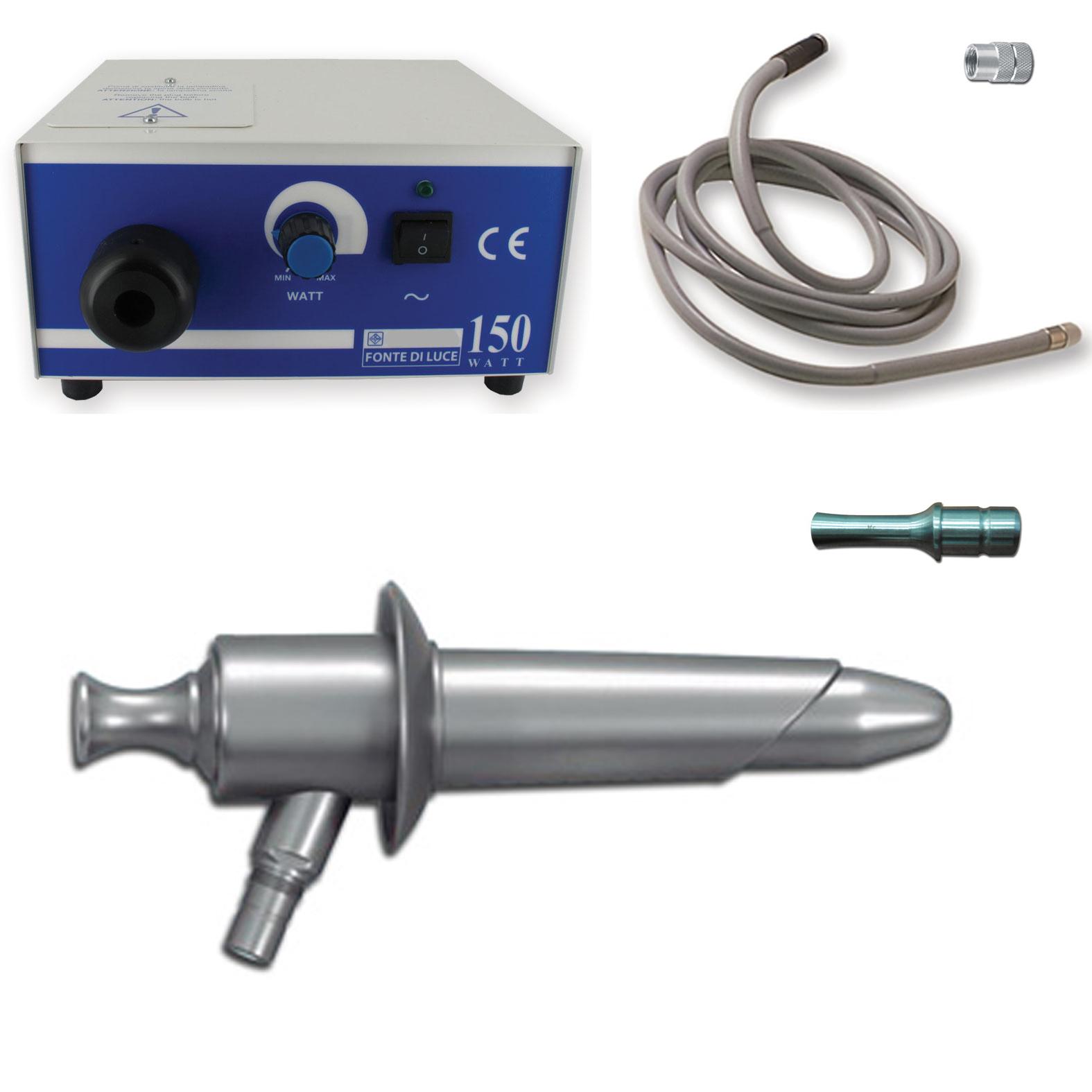 Proctoscop, anoscop szet fényforrással