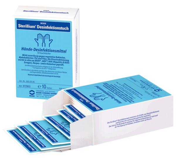 Bőr és kézfertőtlenítő törlőkendő STERILLIUM 15 db