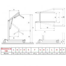 Betegemelő lift hidraulikus ARKIMED-701 180 kg-ig